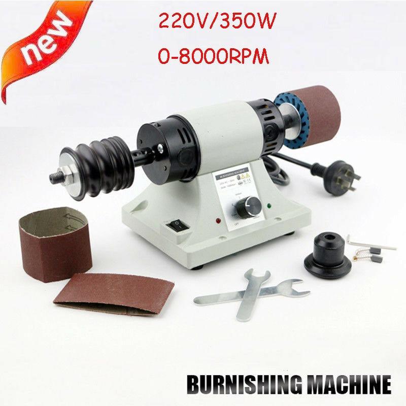 220v 8000RPM Leather Polishing Burnishing Machine Leather Edge Grinding Kit
