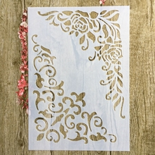 A4 29 * 21cm flower loral DIY Stencils Wall Painting Scrapbook Coloring Embossing Album Decorative Paper Card Template