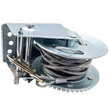 Ręczna wciągarka ręczna 2500lbs Single Gear Heavy Duty do łodzi samochodowej 10m kabel 1360Kg tanie i dobre opinie CN (pochodzenie) Mechanizm korbowy 15cm car tool 4 CYLINDRY 19cm 3500 pound load capacity 23cm Heavy Gauge zinc plated steel frame