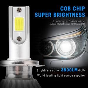 C6 H1 H3 светодиодный лампы для передних фар H7 светодиодный Автомобильные фары H4 880 H11 HB3 9005 HB4 9006 H13 6000K 72W 12V 7200LM авто фары