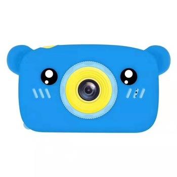 Aparat natychmiastowy dla dzieci dla dzieci aparat fotograficzny 1080P aparat cyfrowy dla dziecka kształt niedźwiedzia zdjęcie z kreskówek aparat zabawka prezent na boże narodzenie tanie i dobre opinie PULUZ Naprawiono ostrości CN (pochodzenie) Rozpoznawania twarzy Hd (1280x720) 4 3 cali 4 5-54mm 10 0-20 0MP Karta sd Ekran HD