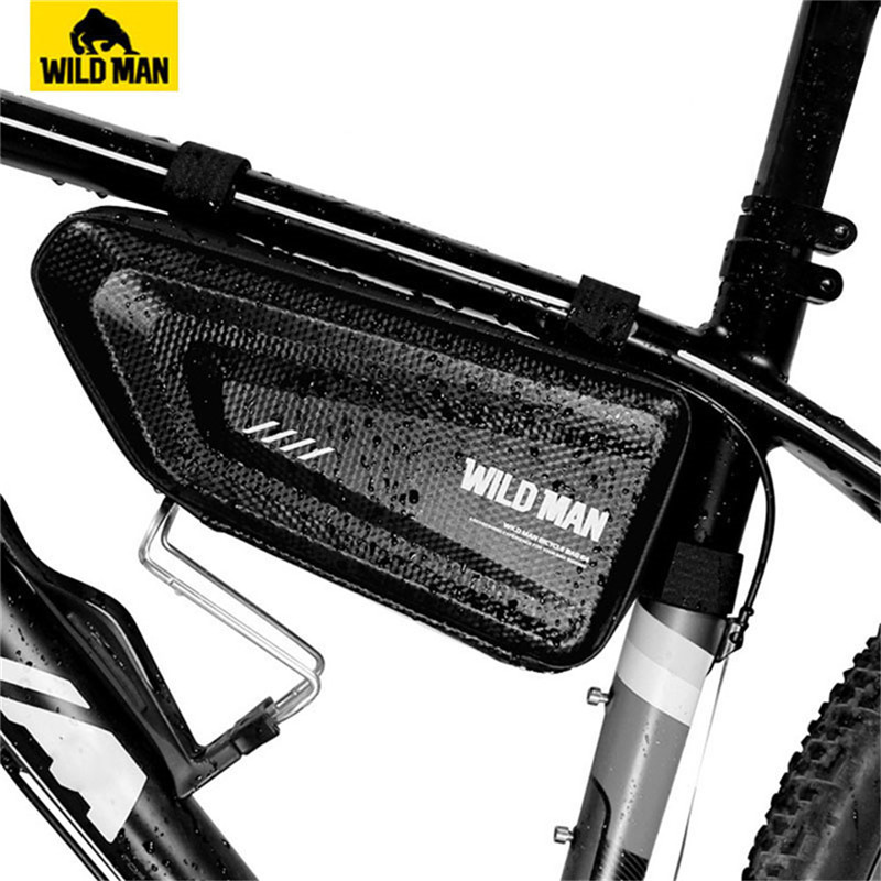 WILD MAN Mountain Bike Bag Rainproof Road Bicycle Frame Bag Cycling Hard Shell Tools Triangle Bag bike Storage Panniers