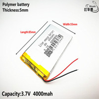 Liter energy battery Good Qulity 3.7V,4000mAH,505585 Polymer lithium ion / Li-ion battery for TOY,POWER BANK,GPS,mp3,mp4