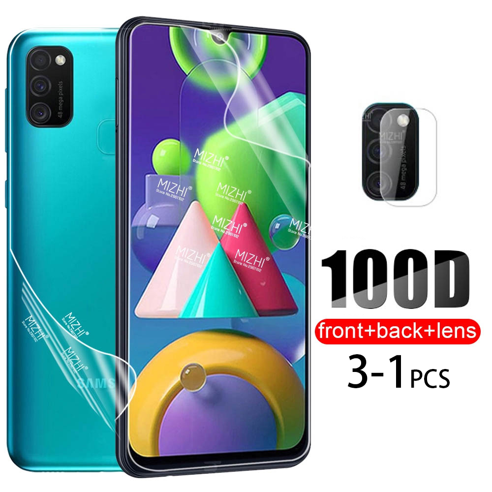 100D Hydrogel Film For Samsung Galaxy M21 A21s A51 A71 A31 M30S M31S Back Screen Protector For Samsu