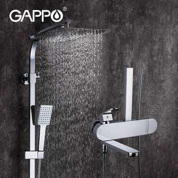 GAPPO Shower faucets brass bathroom shower mixer faucet waterfall bathroom faucets mixer rain bathroom shower set G2483/G2483-8 1