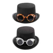 Top-Hat Victorian-Steampunk Bowler Costume-Accessory Jazz Cap Gothic with Detachable