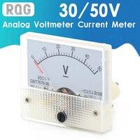 Voltímetro analógico CC, Panel de medición de corriente, 5A, 10A, 30V, 50V, 85C1, indicador de puntero, pantalla Digital de corriente de voltaje de amperios