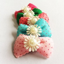 1 Pcs/lot Cheering Candy Barrettes Kids Girls girls Bowknots Solid Ribbon Hair Clip Bows Hairpins Accessories