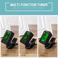 JOYO JT-01/JT-02/JT-03 Guitar Tuner Rotatable With Power CR2032*1 For Bass Acoustic Guitar Bass Ukulele Guitar Accessories 2020