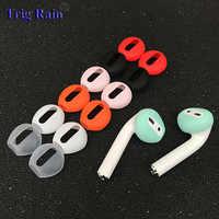 2 pz/paia cuscinetti Auricolari per Airpods Senza Fili di Bluetooth per iphone 7 7 più auricolari dell'orecchio del silicone Cappellini caso auricolare cuffie auricolari