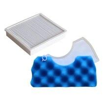 Mavi sünger Hepa filtre kiti için Samsung DJ97-01040C SC43 SC44 SC45 SC47 serisi Robot elektrikli süpürge parçaları araba aksesuarları