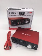 New Upgraded Focusrite Scarlett Solo (2nd gen) 2 input 2 output USB audio interface sound card for recording microphone guitar(China)
