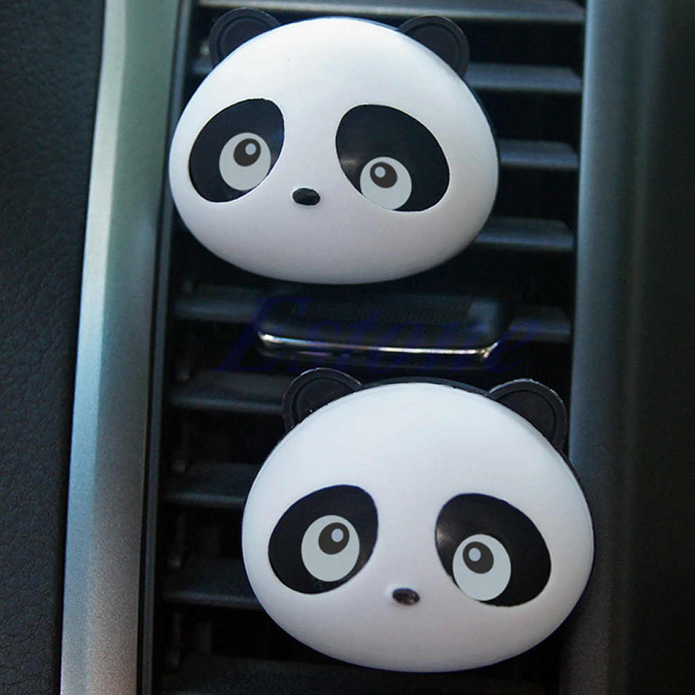 2x Auto Dashboard Air Freshener blink Panda Perfume Diffuser HOT ITEM for Car A6HB