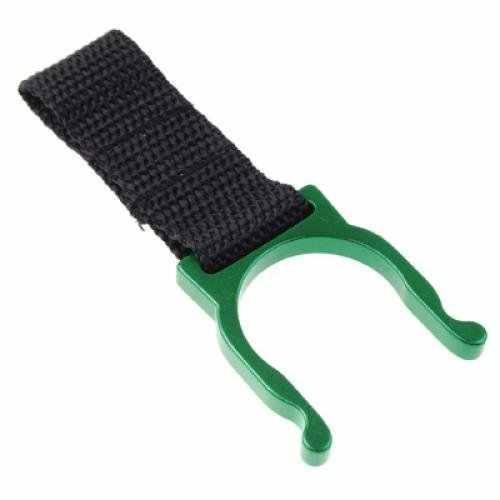 الأخضر حلقة تسلق زجاجة مياه حامل التخييم المشي لمسافات طويلة مع بوصلة