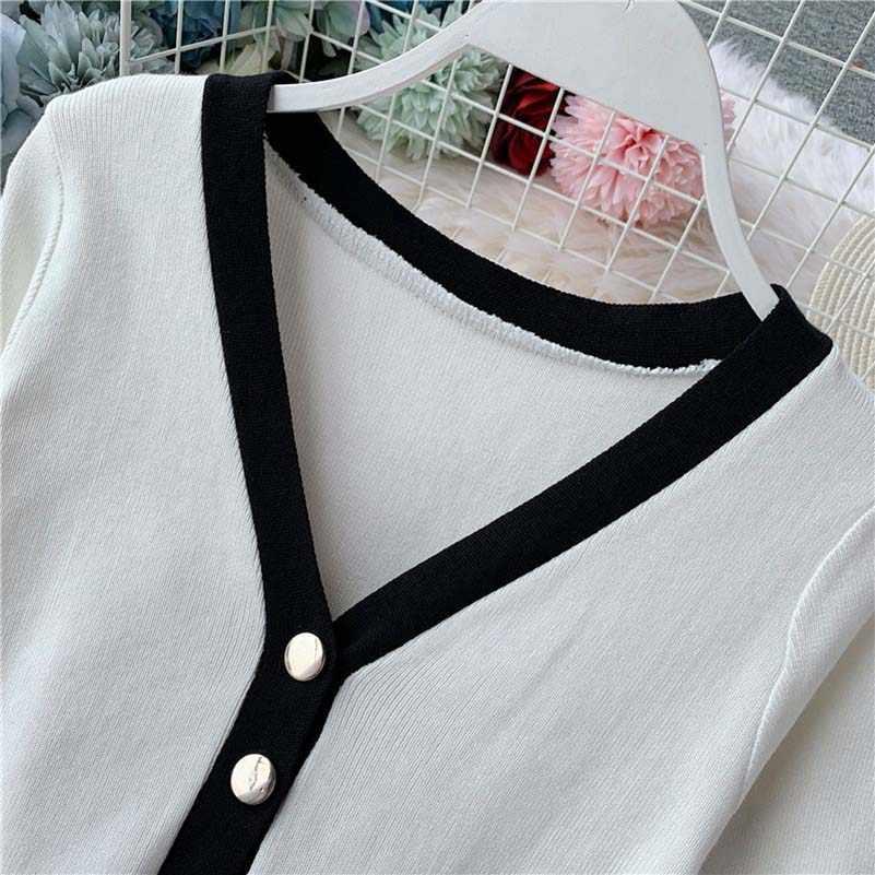 Thời trang nữ vintage Quần Áo len dệt kim cổ chữ V thanh lịch Đầm sang trọng vestidos femininos Gói Mới hông ôm body áo