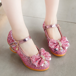Kids Shoes Dress Dance-Sandals Glitter Spring High-Heel Party Girls Fashion