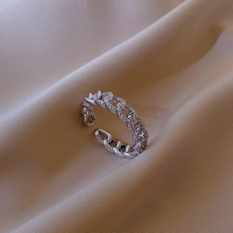 Новинка 2020 корейский Изысканный модный витое кольцо с простым темпераментом универсальное Открытое кольцо женские ювелирные изделия