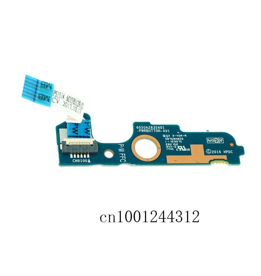 New Original For HP EliteBook 840 850 745 G3 G4 ZBOOK 15U 14U C3 Power Button Board  821169-001 6050A2727401