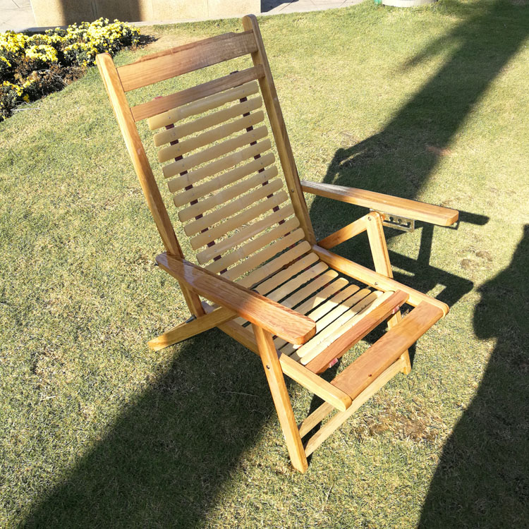 Bamboo Recliner Folding Chair Family Siesta Siesta Chair Cool Chair Old Man Solid Wood Back Slung Bamboo Chair