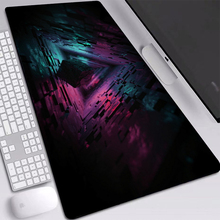 Cube Figure Dark Mat Mice HD Wallpaper Mouse-Pad Desktop Dustproof Locking Edge Gaming Mouse Pad Custom 900x400mm Desk