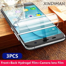 3PCS Front+Back hydrogel film for samsungS8 S8plus S9 S9plus S10 S10plus camera lens S6 S6edge S7 S7edge screen protector