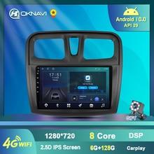 Автомагнитола для Renault 2 Sandero Symbol 2014-2019, мультимедийный DVD-проигрыватель с CD-проигрывателем, GPS-навигацией, Android 9,0, 2din, для Carplay, DSP, Canbus