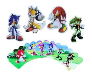 1 комплект Sonic зубная щётка Ежик одноразовые столовые приборы Baby Shower День рождения пластины флаги/обертки шары День рождения Декор