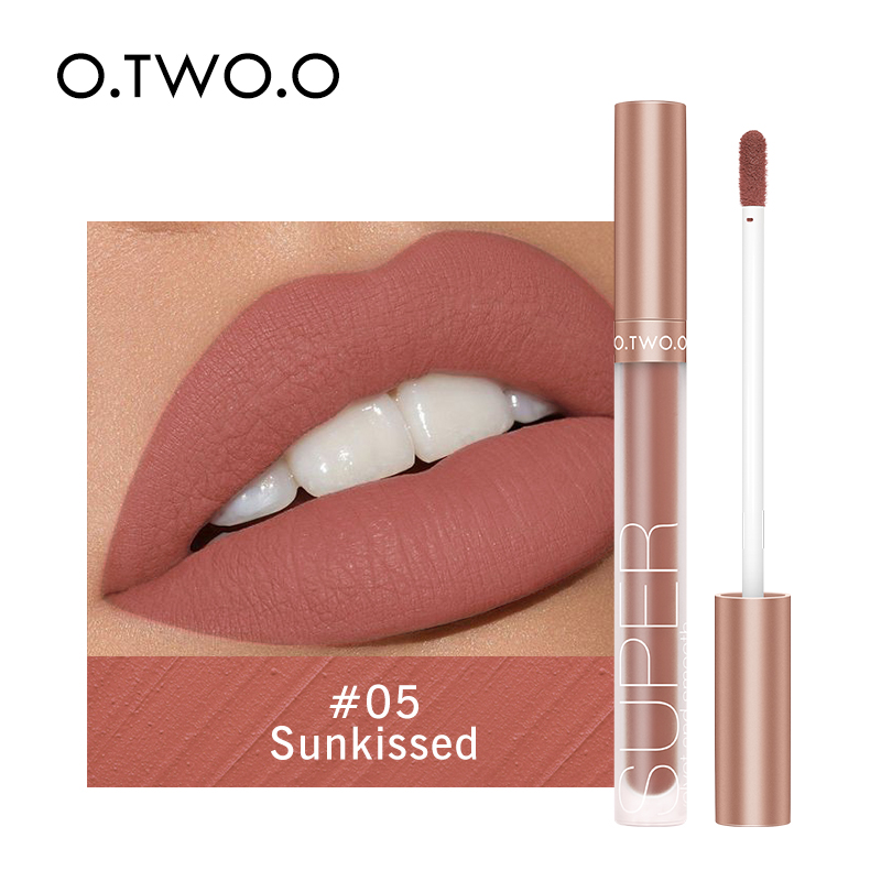 O.TWO.O Liquid Lipstick Matte Lip Gloss Cosmetic Lightweight Lip Glaze Long Lasting Lip Tint  Waterproof 12 Color Lips Makeup 5