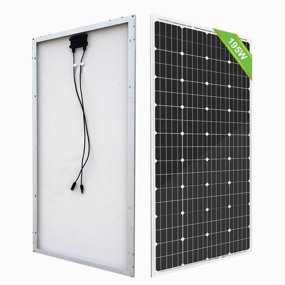 Panel de energía Solar monocristalino de 100W y 18V para cargador de batería de 12V, para casa, coche, 200w, 400w, 600w, 800w, 1000W, kit de sistema de paneles solares