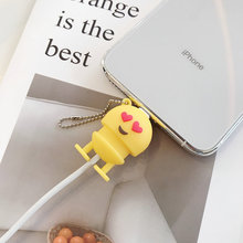 Cartoon Cute Emoji Cable Phone Charger Protector Cord Data Line Cover Decorate Smartphone Wire Accessories