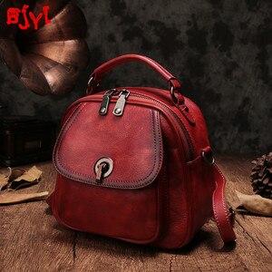 Nowe oryginalne skórzane damskie plecaki miękka skóra Vintage mały plecak kobiet przekątna torba na ramię panie małe torby szkolne