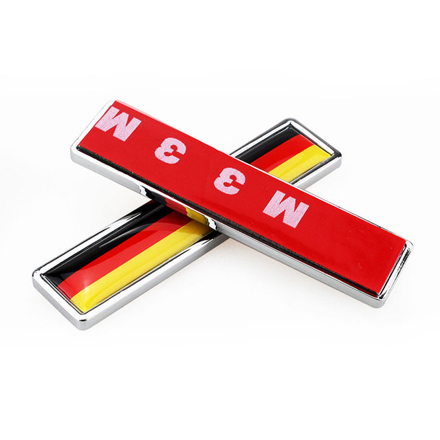 1 par país bandeira nacional alemanha quente metal adesivos de estilo do carro da motocicleta acessórios emblema etiqueta do emblema do carro adesivos