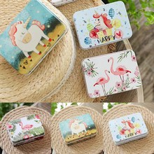 Colorful Mini Tin Box Sealed Jar Packing Boxes Jewelry Candy Box Small Storage