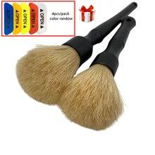 Kit di spazzole per dettagli auto lavaggio auto cinghiale spazzole per capelli ruote per pulizia auto moto prese daria motore accessori esterni interni