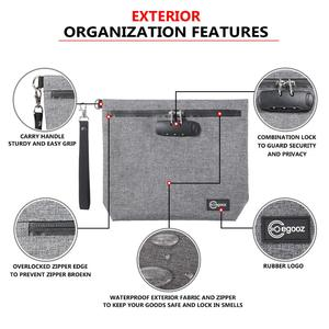 Image 4 - 조합 자물쇠를 가진 냄새 증거 부대 허브를위한 냄새 증거 Stash 케이스 콘테이너; 약 자물쇠 상자 부대 여행 저장 상자