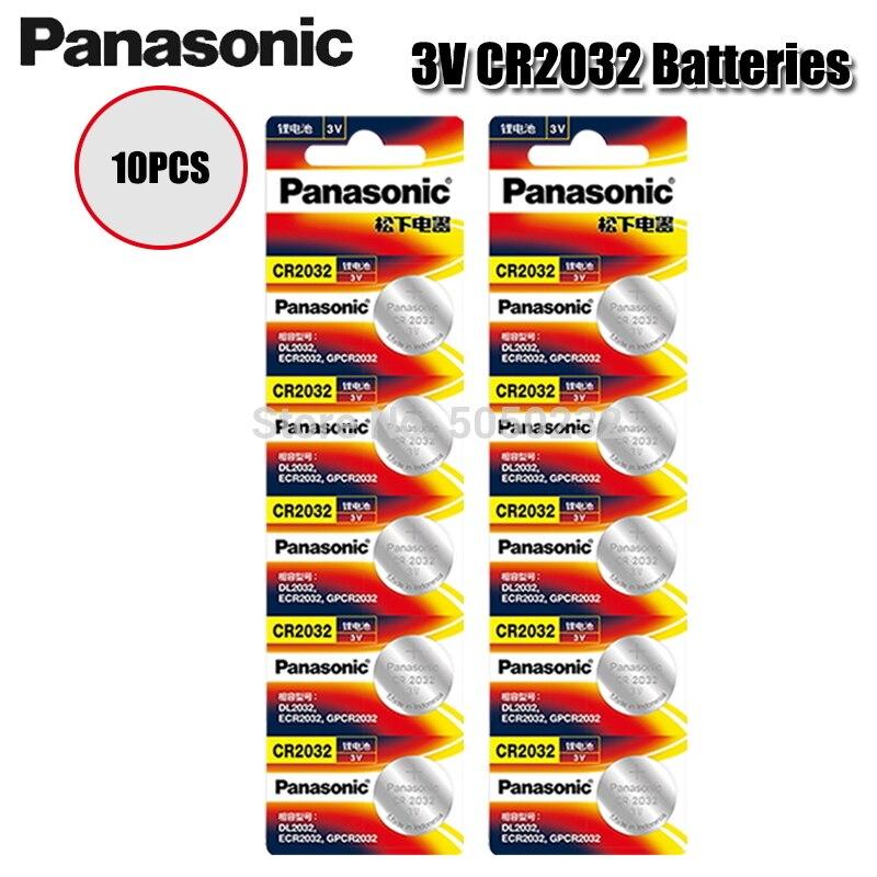 10 Pçs/lote PANASONIC Original CR2032 3V Baterias De Lítio Botão Célula de Bateria CR 2032 para Brinquedos Relógio Calculadora Computador de Controle|Bateria de célula de botão|   -