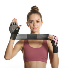 Gym Sports Gloves Half Finger Weight Lifting Gloves with Wrist Support Belt Men Women Workout Exercise Fitness Training Glove