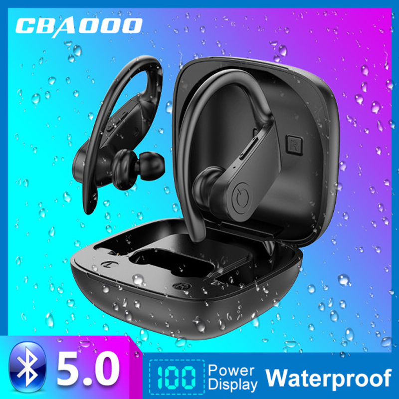 CBAOOO Wireless Headphones TWS Bluetooth 5 0 Earbuds Bluetooth Earphone Led Display 2200mAh With Mic Sport Waterproof Headsets