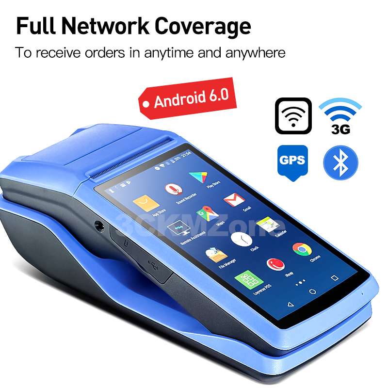 Android 6.0 NFC PDA POS Receipt Bluetooth Printer PDA Thermal Printer 58mm Handheld POS Handheld Terminal WIFI Bluetooth 3G PDA