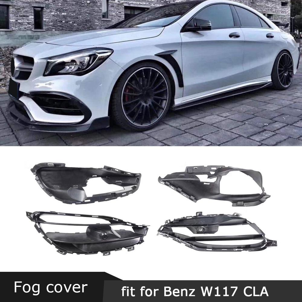Black Rear Bumper Side Vent Canards for Mercedes-Benz W117 CLA220 CLA250 CLA45