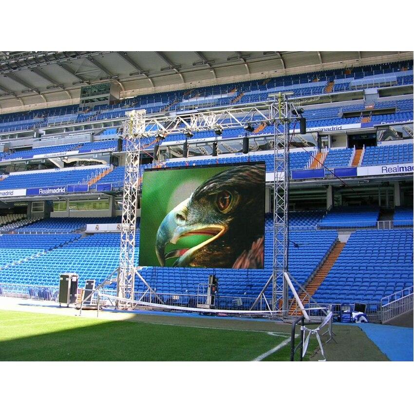 128*128dots 500x500mm Die Cast Aluminum Cabinet Rental OutdoorP3.91 RGB LED Display Small Stadium Billboard Screen