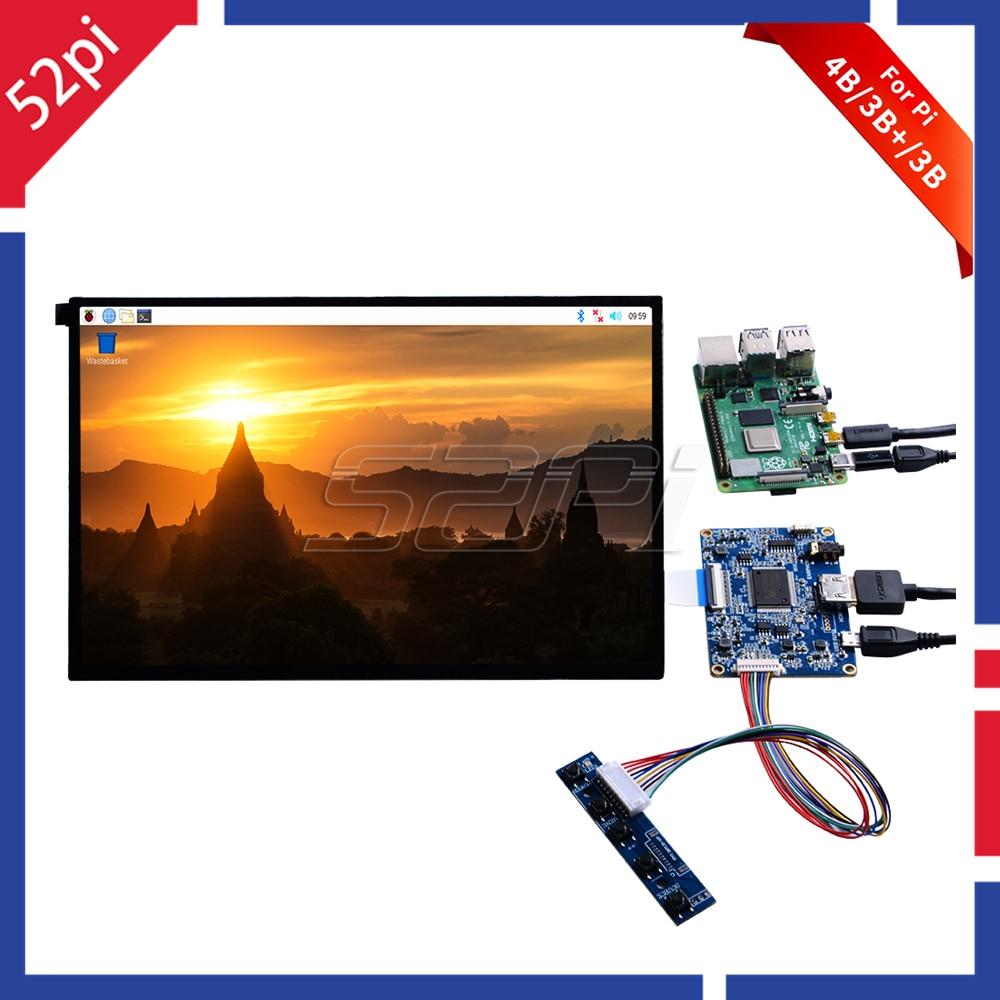 52Pi 10.1 Inch 1280*800 LCD Screen Display DIY Kit HDMI Monitor TFT LCD 5V 1A For Raspberry Pi 4 B All Models