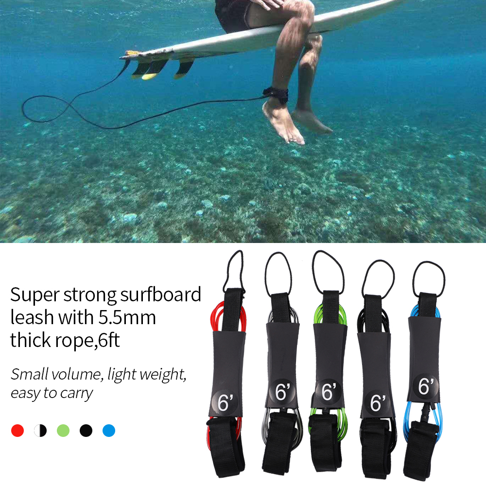 SFIT Surfboard Surfing Leash Paddle Board Rope TPU Surf Foot Rope Safety Leash Rowing Boats Lanyard Fishing Rod Kayak Accessorie