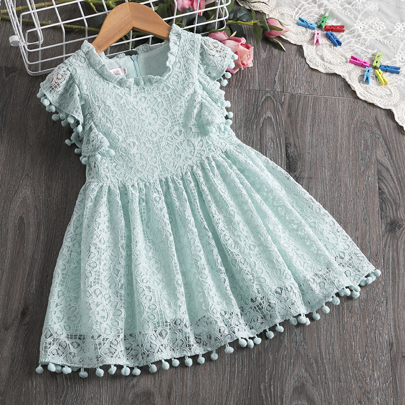 Clode for 0-5 Years Old Girls Fashion Toddler Infant Kids Baby Girl Tassel Dress Summer Clothes Solid Casual Tutu Dress