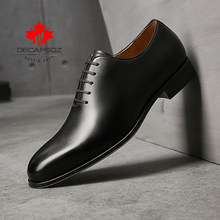 DECARSDZ Herren Komfortable Oxford Schuhe männer Echte Leder Mode Mann Schuhe Business Kleid Casual Schuhe Für Männer