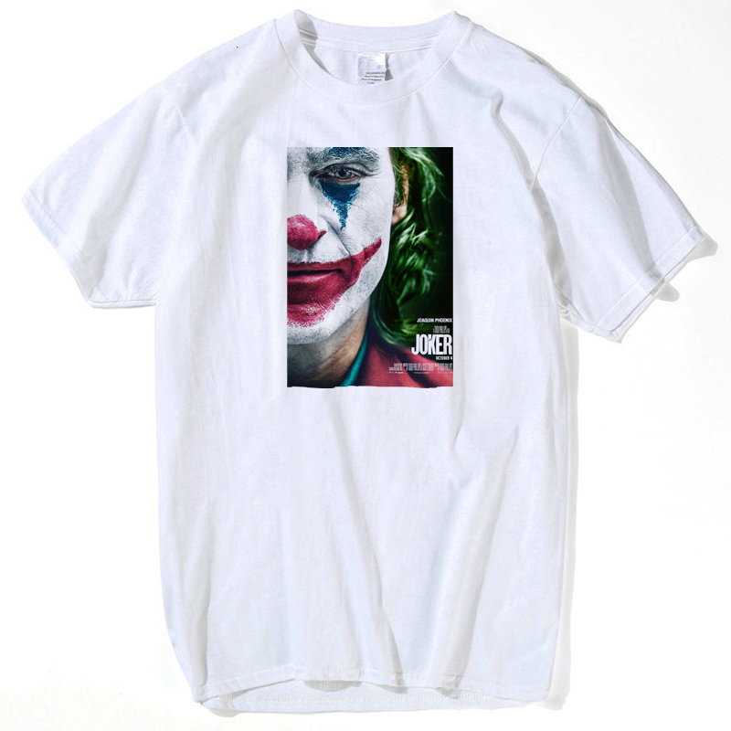 2019 IT Movie T Shirt Stephen King Print tshirts Joker Funny Tees pennywise Custom Tops clown costume T-shirt Clothing s-3XL