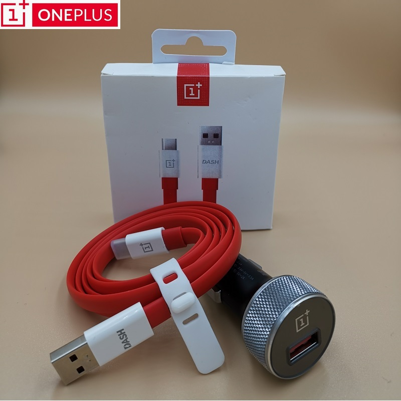 100% Original <font><b>Oneplus</b></font> Dash Car Charger <font><b>6</b></font> 6T 5t 5 3t 3 one plus <font><b>smartphone</b></font> QC 3.0 quick charge Fast Charging Type C Cable image