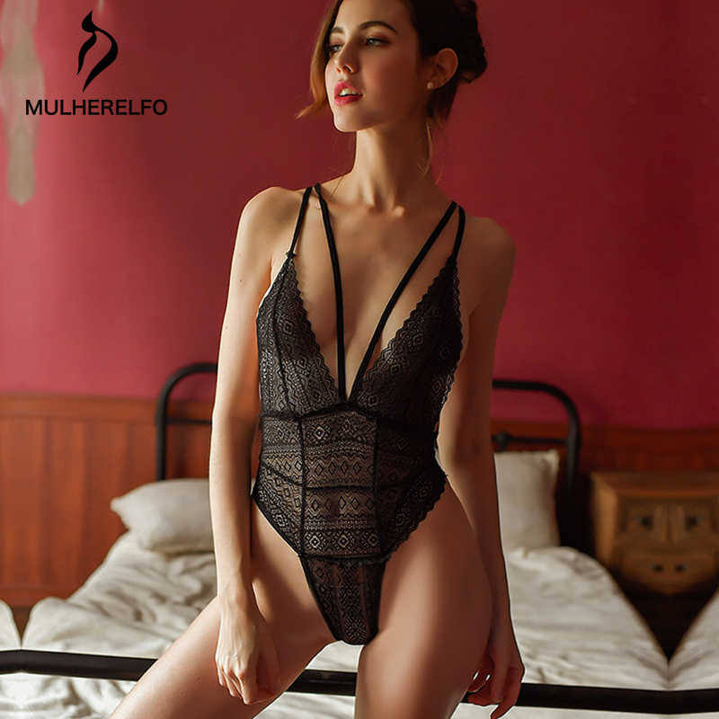 Black Sexy V-Neck Nightwear Women's Summer Sleeveless Short Open Back Pajamas Spaghetti Strap Home Temptation Women's Sleepwear