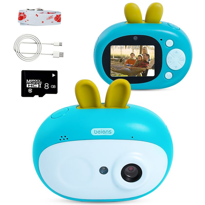 Beiens Kids Digital Camera Toys 8 Megapixeles Children Birthday Gift Toddler Educational Toy With 8G SD Card For Kids Age 3-10