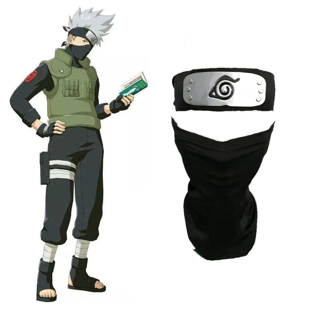 Anime Naruto Hatake Kakashi Masker Wajah Headband Cosplay Kostum Props Kostum Aliexpress